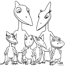 coloring pages draw a dinosaur