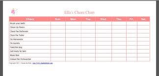Chore Template Free Google Search Template Chore Chart
