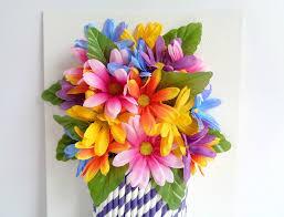 Tissue Paper Flower Wall Art 3d Fake Flower Wall Art