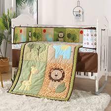 wowelife green jungle 7 piece crib