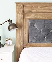 once your headboard is complete you can attach it directly to the wall or bed rails into the outside posts