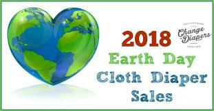 2018 Earth Day Cloth Diaper Discounts & Sales