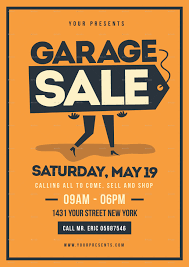 Garage Sale Flyer Template 95 In Perfect Home Designing Ideas With