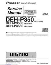 pioneer deh p3500 manuals pioneer deh p3500 service manual