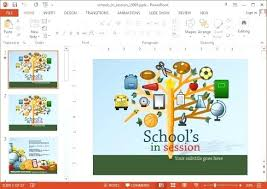How To Download A Powerpoint Template Free Animated Backgrounds Education School Templates Download Ppt