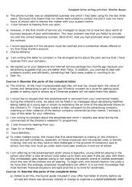 Complaint Letters To Companies To Buy List Template Free Rental