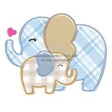 Free Elephant Applique Pattern   Big Elephant Applique by Jody ... & Big N Little Elephants Applique Adamdwight.com