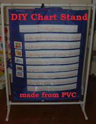 How To Make A Pvc Pocket Chart Stand Pin On Classroom