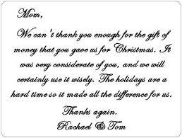 Gift Thank You Note Rome Fontanacountryinn Com