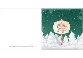 Merry Christmas And A Happy New Year Card Template Free