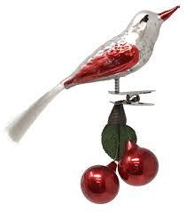 Tollkühn Nostalgie Christbaumschmuck Vögele Mit Kirschen