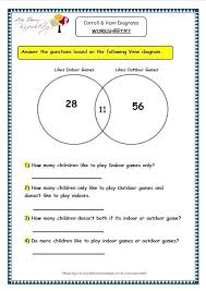 2 circle venn diagram problems and diagram grade 3 maths worksheet 7 2 sorting venn worksheets