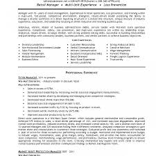 Resume For Store Manager Sample Resume For Retail Store Manager Examples Download Proposal 20