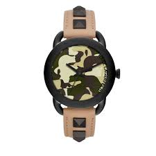 karl lagerfeld watches on online in singapore retail store karl lagerfeld watch kl2209 karl pop black tone studded tan leather ladies watch
