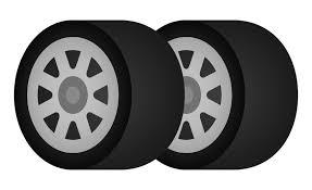 タイヤ2本のイラスト 無料のフリー素材 イラストエイト