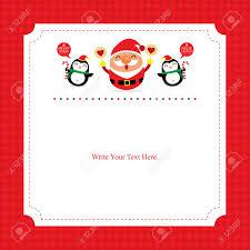 Christmas Card Template Santa Claus