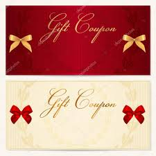gift voucher coupon invitation or card template floral voucher template floral pattern border and gift red bow ribbons background design for gift voucher coupon invitation certificate diploma
