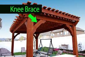 pergola knee brace. Brilliant Brace Knee Brace Example Throughout Pergola Brace E