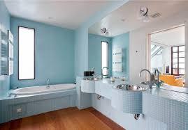 Bathroom : Electic Blue Bathroom With Oval White Modern Ceramic ...