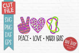 These mardi gras svg cutting files will work smoothly with your silhouette or cricut cutting machine. Peace Love Mardi Gras Svg Png Dxf Eps 409614 Svgs Design Bundles In 2020 Mardi Gras Svg Peace And Love Mardi Gras
