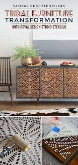 diy furniture makeovers. tribal furniture stencils idea on global chic diy upcycle project diy makeovers