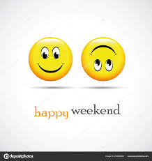 loading weekend happy smileys stock vector