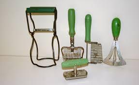 vintage kitchen tools. vintage green handle kitchen utensils thedapperlemons etsy tools t