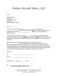 Letter Of Intent In Word And Pdf Formats