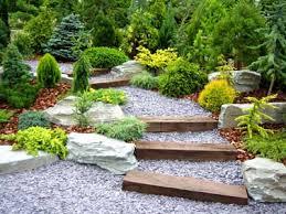 Lovable Garden With Rocks Rock Garden Ideas Gardens Garden Steps And  Walkways