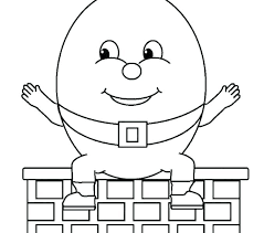 humpty dumpty coloring page coloring pages page nursery printable egg free humpty dumpty coloring pages