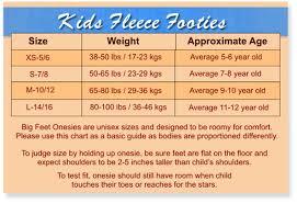 Big Feet Pjs Size Chart Boys Girls Red Fleece Kids Onesie Footed Pajamas