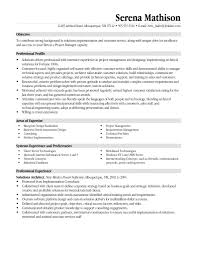 Sample Resume Project Manager Telecommunications Save Tele Project