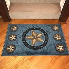 western texas star country rustic lodge cabin area rug carpet on