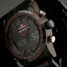 analog digital watch promotion shop for promotional analog digital 2017 new fashion men watches full steel men s quartz hour clock analog digital led watch sports military wrist watch