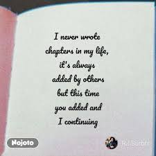 Life Sms Quotes In Hindi I Never Wrote Chapters English Poem N