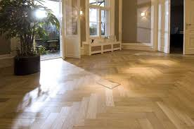 White oak herringbone ...