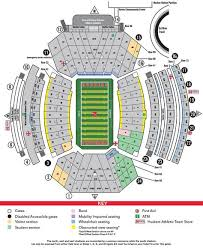 Illinois Seating Chart Football Football Stadium Maps Nebraska Cornhuskers Football