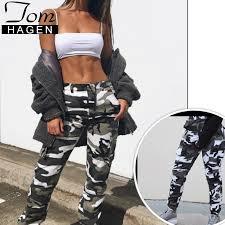 Us 14 99 47 Off White Camouflage Cargo Pants Women Pocket Loose Long Cargo Trousers Womens Camo Pants Plus Size Women Camouflage Pantalon Femme In