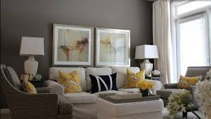contemporary decor living room gray and yellow