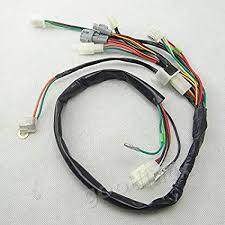 amazon com wire loom harness wiring assembly for yamaha peewee pw50 pw50 wiring harness at Pw50 Wiring Harness