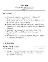 Quality Assurance Resume Sample  Hloom.com