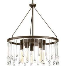 sway collection 5 light antique bronze chandelier