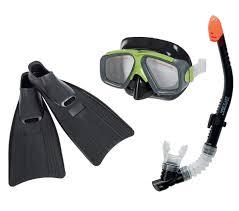 Набор для плавания <b>SURF маска</b> трубка ласты 55959 <b>INTEX</b> ...