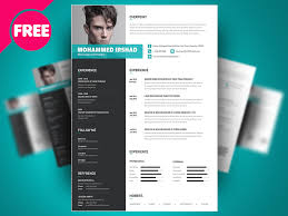 Free Psd Resume Templates Professional Resume Templates