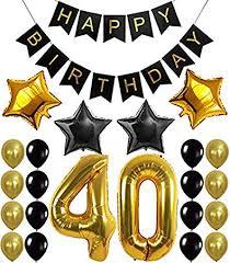 Birthday Banner Printable Amazon Com 40th Birthday Decorations Balloons Banner
