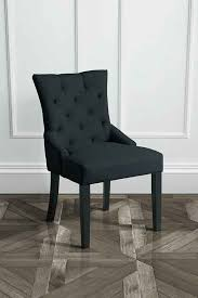 torino black upholstered scoop back dining chair