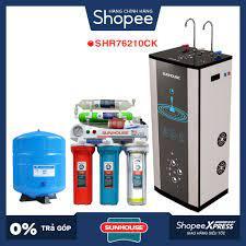 Máy lọc nước RO nóng lạnh 2 vòi SUNHOUSE SHR76210CK (10 cấp lọc - Bao gồm  tủ cường lực)