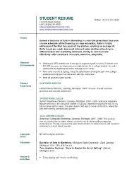 resume college student sample resume examples student musiccityspiritsandcocktail com