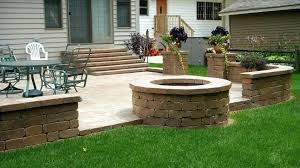 outdoor fire pit patio outdoor fire pit patio ideas palm springs outdoor stone square patio fire