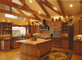 Log Cabin Kitchen Decor Kitchen Log Cabin Kitchens Island Designs Mountain With Square